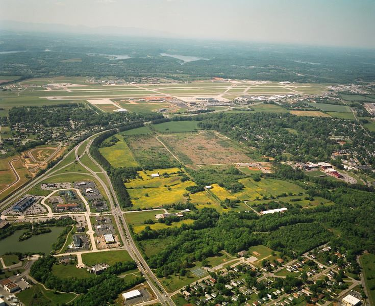 Aerial view of West Plant Development area