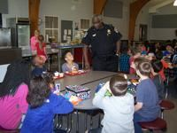 Alcoa Intermediate School Resource Officer George Parker Talking With Students at Lunch