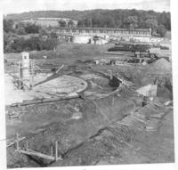 1962 construction of the Water Treatment Plant with the original 1927 building in background.