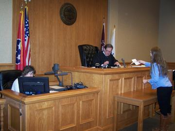 Municipal Court Judge Bray and Clerk Breeden