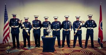 The City of Alcoa Honor Guard in full dress uniform.