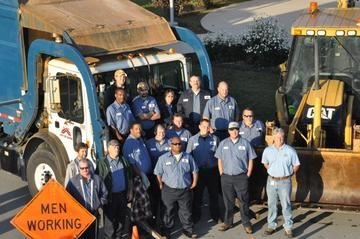 A group photo of the Sanitation and Recycling Services staff.