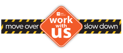 TDOT Move over, work with us logo