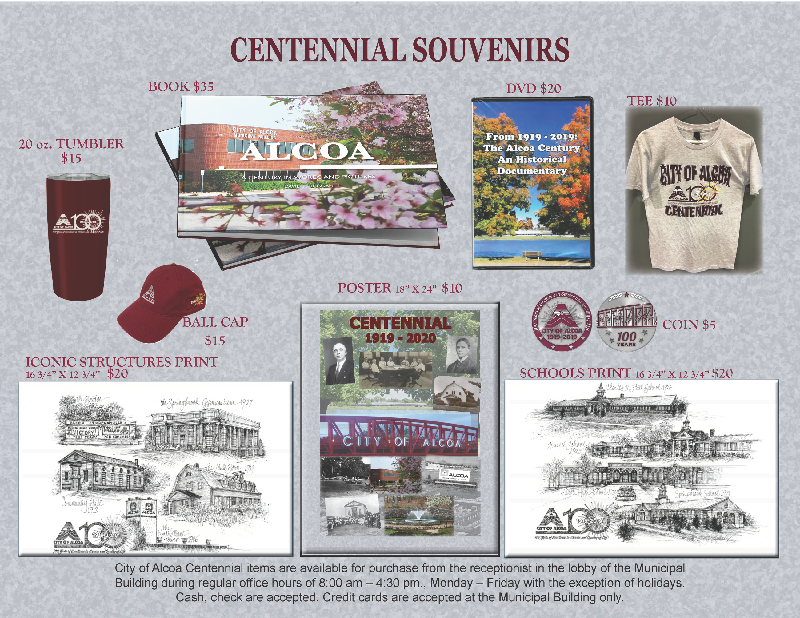 Pictures and prices of centennial souvenirs